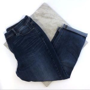 Chico's So Slimming Girlfriend Crop Blue Jeans 14